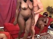 Pregnant ebony chicks suck cocks
