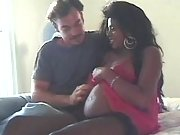 Hot pregnant ebony spoils white man