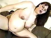 Pregnant slutty jumps on black cock